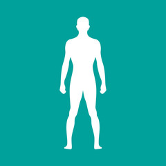 Human body outline. Vector illustration