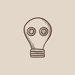 Gas mask sketch icon.