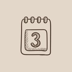 Calendar sketch icon.