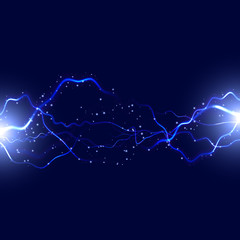 Lightning background. Abstract vector illustration