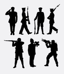 soldier army and police 1. Good use for symbol, logo, web icon, mascot, sign, sticker, or any design you want. Easy to use.