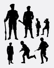 Soldier, army and police silhouette 3. Good use for symbol, logo, web icon, mascot, sign, sticker, or any design you want.
