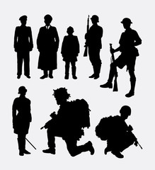 Soldier, army, police silhouette 4. Good use for symbol, logo, web icon, mascot, sticker design, or any design you want. Easy to use.
