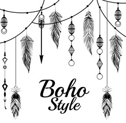 Photo sur Aluminium Style Boho boho style design