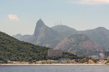 Beach at the foot of Sugarloaf in Rio de Janeiro