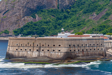 Historical fortress of Santa Cruz, at the entrance of Guanabara