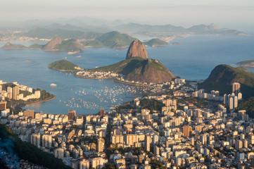 Sunset panorama over Rio de Janeiro, Brazil
