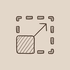 Scalability sketch icon.