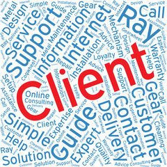client,Word cloud art  background