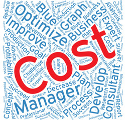 Cost ,Word cloud art  background