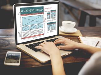 Responsive Design Layout Content Concept