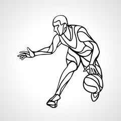 Basketball player abstract silhouette