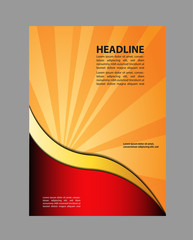 Advertising Design Template - Suitable for brochure design or website