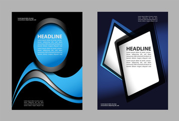 Abstract flyer or cover design with halftone effect/vector illustration