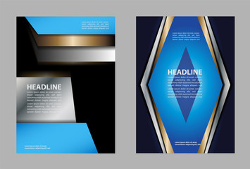 Professional business design layout template or corporate banner design. Magazine cover, publishing and print presentation. Abstract vector background