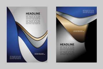 Flyer, brochure, poster, annual report, magazine cover vector template. Modern blue corporate design