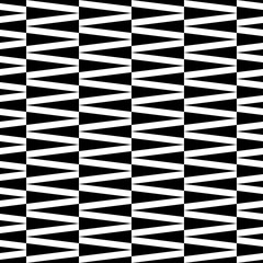 Seamless black and white vector background with abstract geometric shapes. Print. Cloth design, wallpaper.