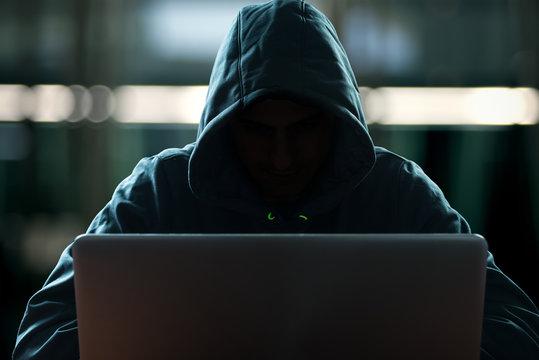 Hacker in front of his computer