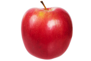 Wall Mural - Fresh red apple, isolated on white.