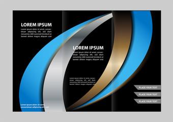 brochure design template folder leaflet