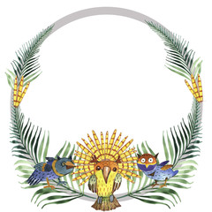 decorative birds, watercolor, illustration