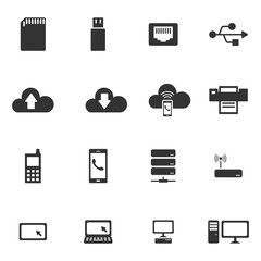 Network icons,Vector EPS.
