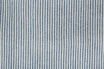 Jeans fabric with vertical stripes