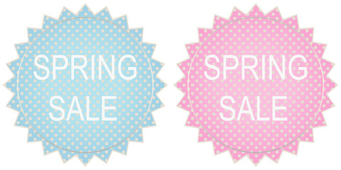 Spring sale label set