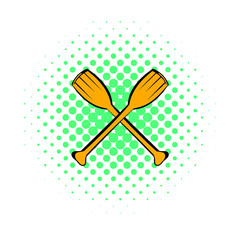Paddle icon, comics style