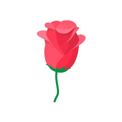 Rose icon, cartoon style