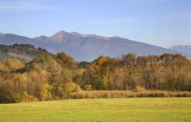 Landscape near Liptovsky Mikulas. Slovakia