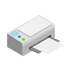 Printer icon, cartoon style