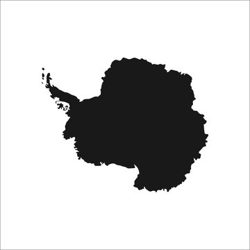 Detailed south pole antarctica continent simple icon on  background