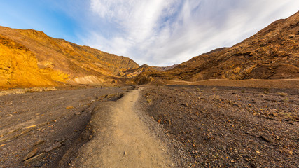 Rocky landscape background.Inside Mosaic Canyon, Death Valley National Park, California