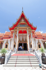 Buddhist temple at Wat Chalong in Phuket, Thailand.