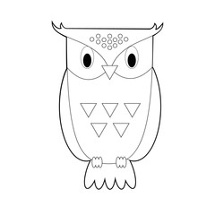 Easy Coloring Animals for Kids: Owl