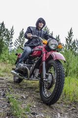 Coolest biker in the woods
