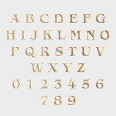 Set of letters and figures - EN