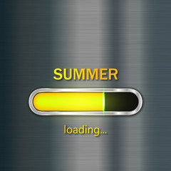 Summer loading. Vector progress loading bar