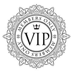 Rich decorate VIP decor with unusual stylish  ornate  round fram