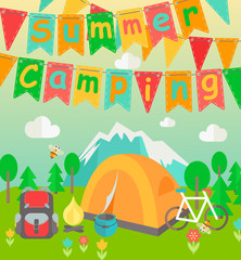 Summer Holiday and Camp themed