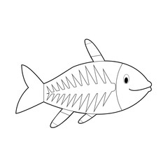 Easy Coloring Animals for Kids: X-Ray Fish