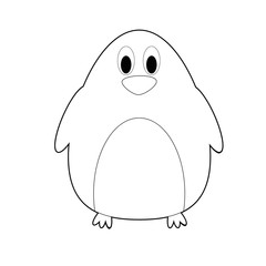 Easy Coloring Animals for Kids: Penguin