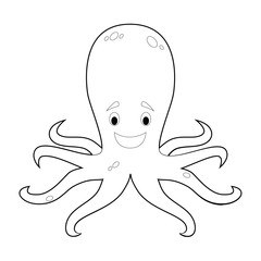 Easy Coloring Animals for Kids: Octopus