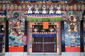 Tibetan temple in Gangtok,Sikkim,Northern India