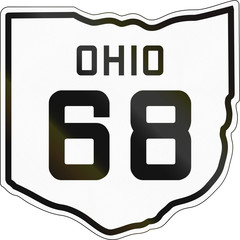 Historic Ohio Highway Route shield from 1927 used in the US
