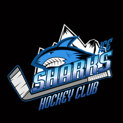 Sharks hockey club professional logo