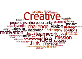 Creative, word cloud concept 3