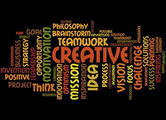 Creative, word cloud concept 8