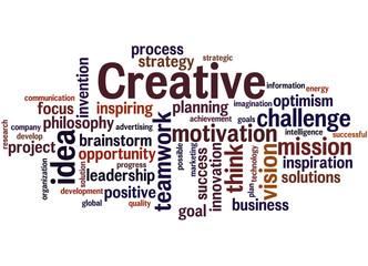 Creative, word cloud concept 9